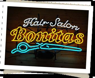 Hair Salon Bonitas様 Sundaysネオンサイン製作事例