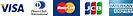 VISA、ダイナーズクラブカード、MasterCard、JCB、アメリカン・エキスプレスOK